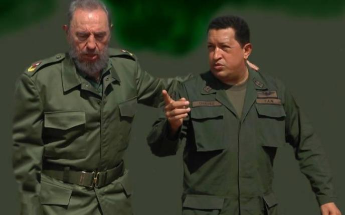 Gigante Fidel y Chávez